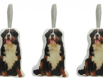 Set of Three Bernese Mountain Dog Shaped Cushion  Decorations Made By Creature Comforts Direct, Ornaments, Dog Gift Cushion/Pillow