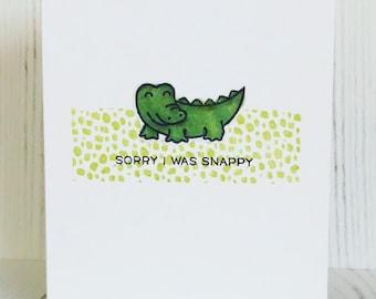 Sorry Card, Gator Card, Punny Card