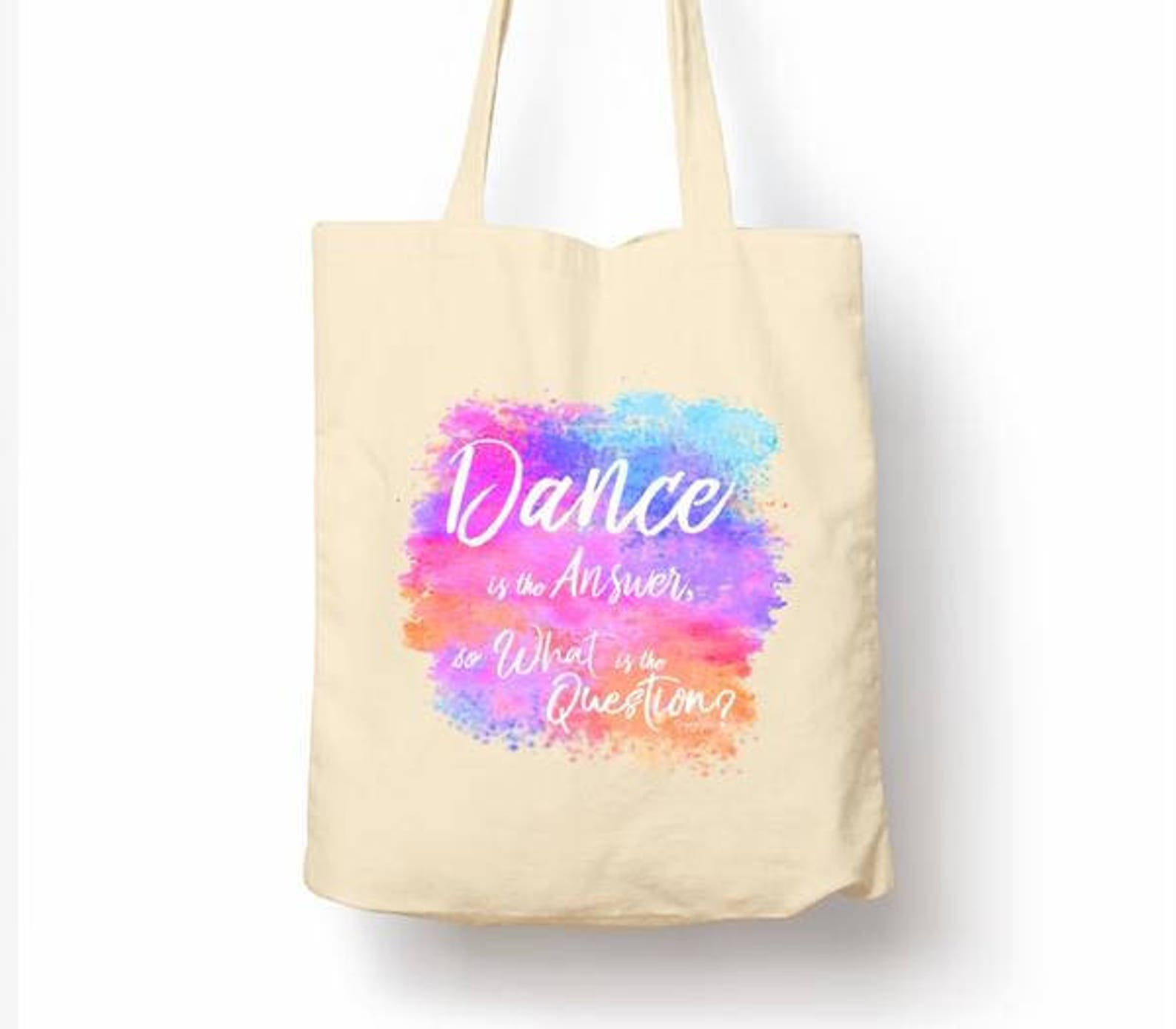 dance is the answer tote bag ballroom latin salsa bachata ballet dancesport modern jazz