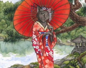Summer Kimono Kitty