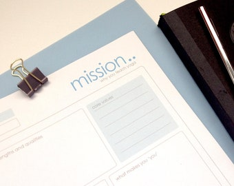 Yoga Teacher Mission Statement, Instant Download, Mission Statement, Yoga Stationery, Personal Mission Statement, Yoga Mission Statement