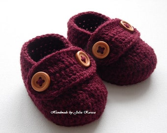 Handmade baby loafers, baby crochet shoes, handmade shower gift, crocheted baby shoes, baby shoes, shoes for baby, crochet baby booties