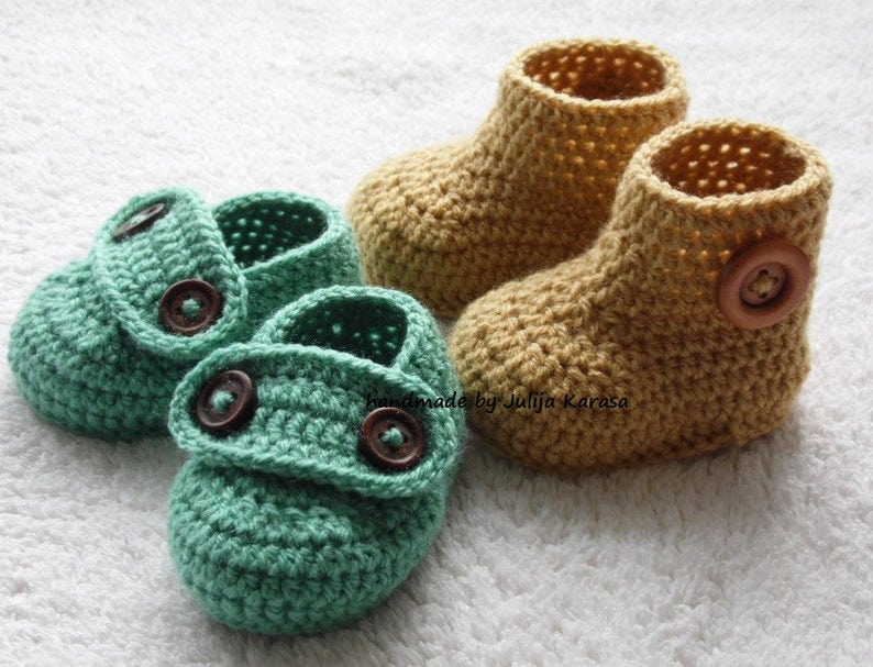 little baby booty crochet baby boots and shoes handmade booties for baby crochet set for baby Baby booties crochet shower gift