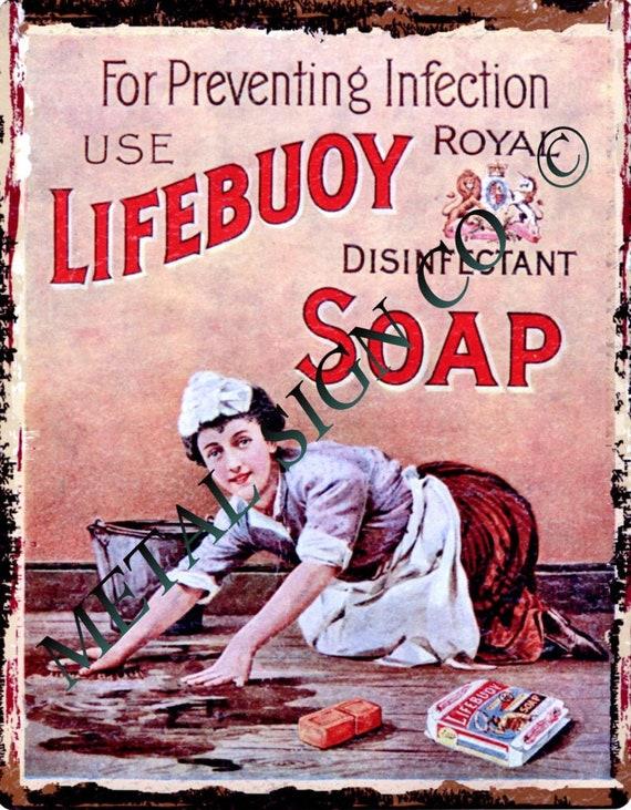 PEARS SOAP BATHROOM ADVERTISEMENT RETRO VINTAGE METAL TIN SIGN WALL CLOCK