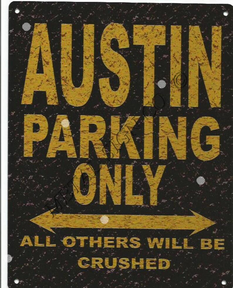 Austin Oldtimer Parken Zeichen Schuppen Garage Spiele Zimmer Etsy