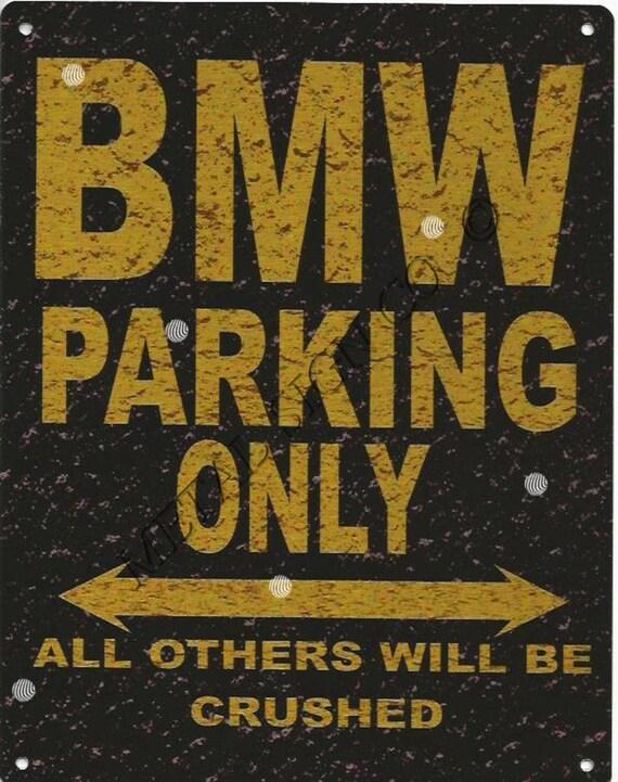 shed BMW Car GARAGE  Metal WALL SIGN garage man cave,tavern