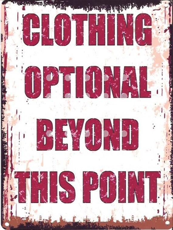 hottub jacuzzi CLOTHING OPTIONAL METAL SIGN  RETRO VINTAGE STYLE pool,mancave
