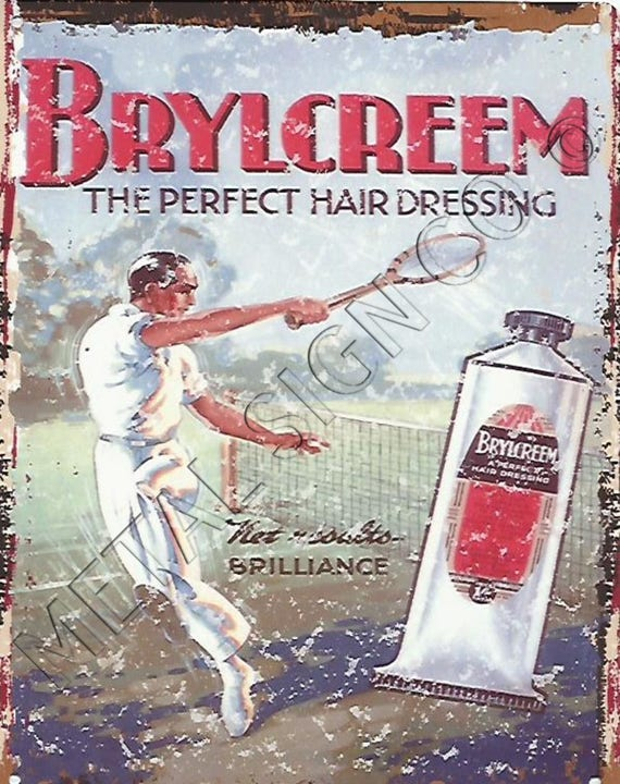 Brylcreem Photo Classic Vintage Retro Print Picture Barber Advert Poster Photo
