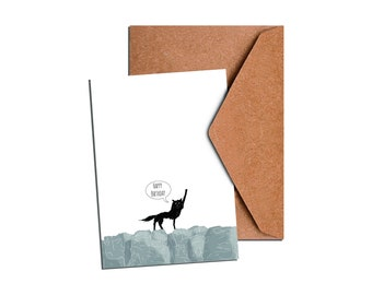 Mr. Wolf Birthday Card