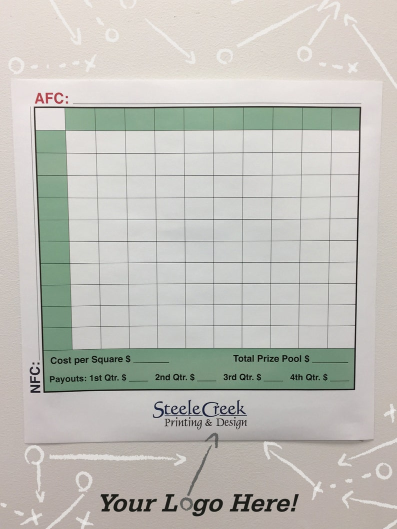 Football Squares Wall Graphic