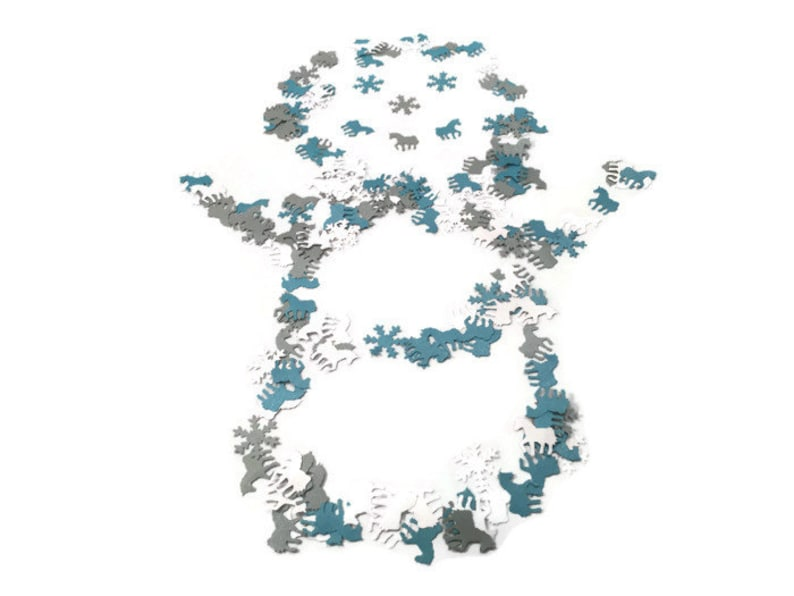 Unicorn Frozen Party Table Confetti Blue,Ice White,Silver table sprinkles Birthday,Fairy,Magical,Whimsical,My Little Pony,Frozen Party