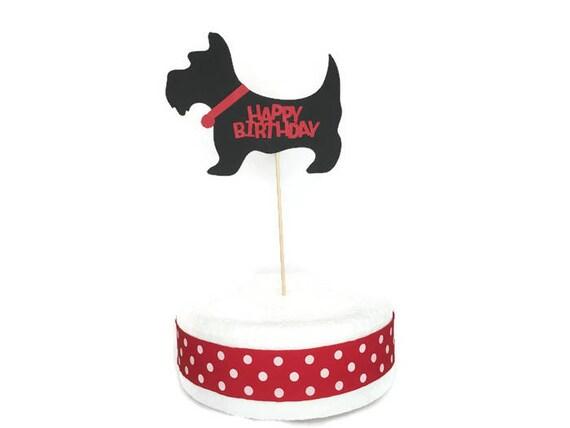 Scottie Dog Happy Birthday Cake Topper Theme Partydog
