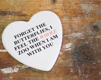"""Valentine's day: """"The whole ...""""-romantic Phrase on ceramics (gift for her/him)"""