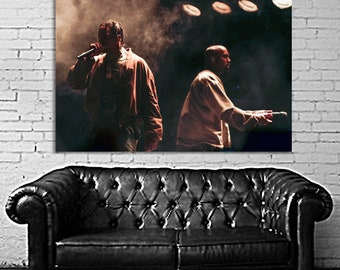 e58e79a3a699 K09 Kanye West Travis Scott 40x60 inch More Sizes Large Print Poster