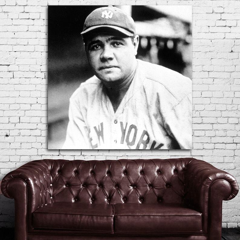 "Babe Ruth poster wall art home decor photo print 24x24/"" inches"