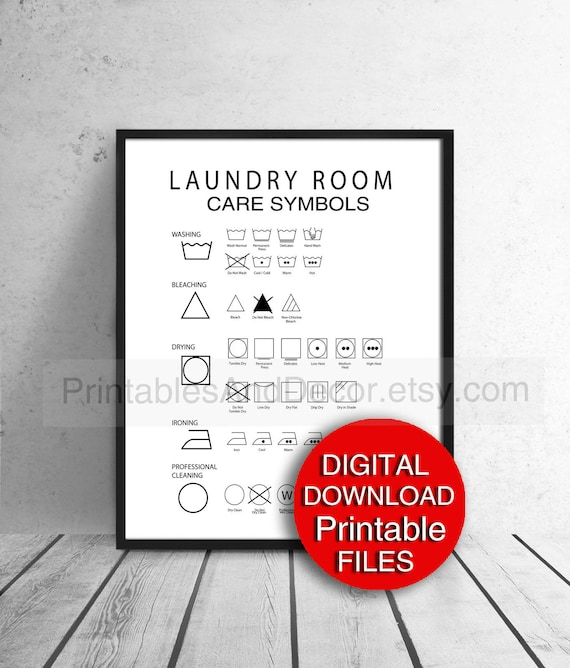photograph about Laundry Symbols Printable identified as Printable Laundry Symbols Advisor, Laundry Space Decor, Laundry Treatment Consultant, Laundry Print, Letter Dimensions A4 PDF
