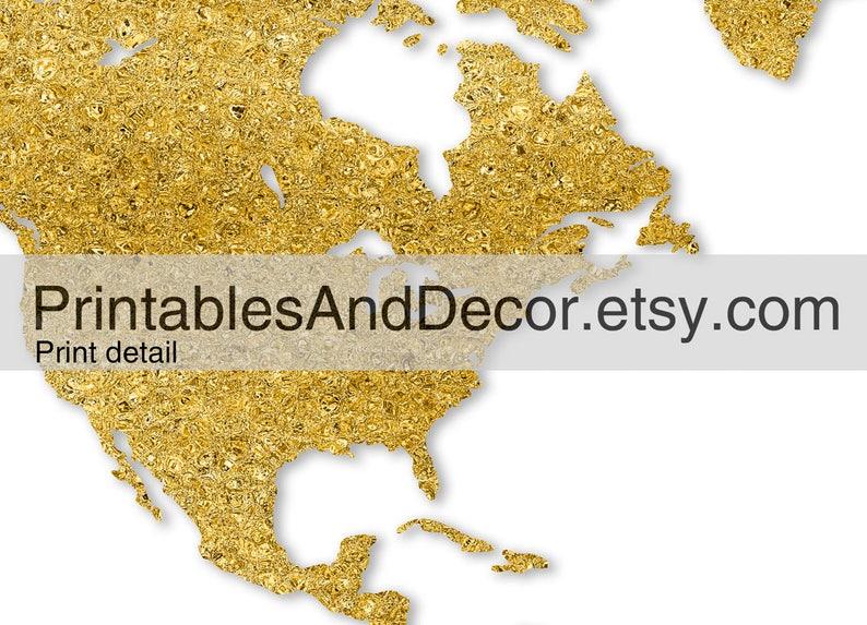 photograph regarding Unf Printable Map titled Printable Globe Map Obtain, Gold Worldwide Map, 5x7 A4 8x10 11x14 16x20 A3