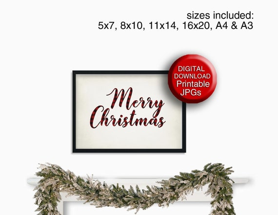 It's just a picture of Merry Christmas Sign Printable for farmhouse style