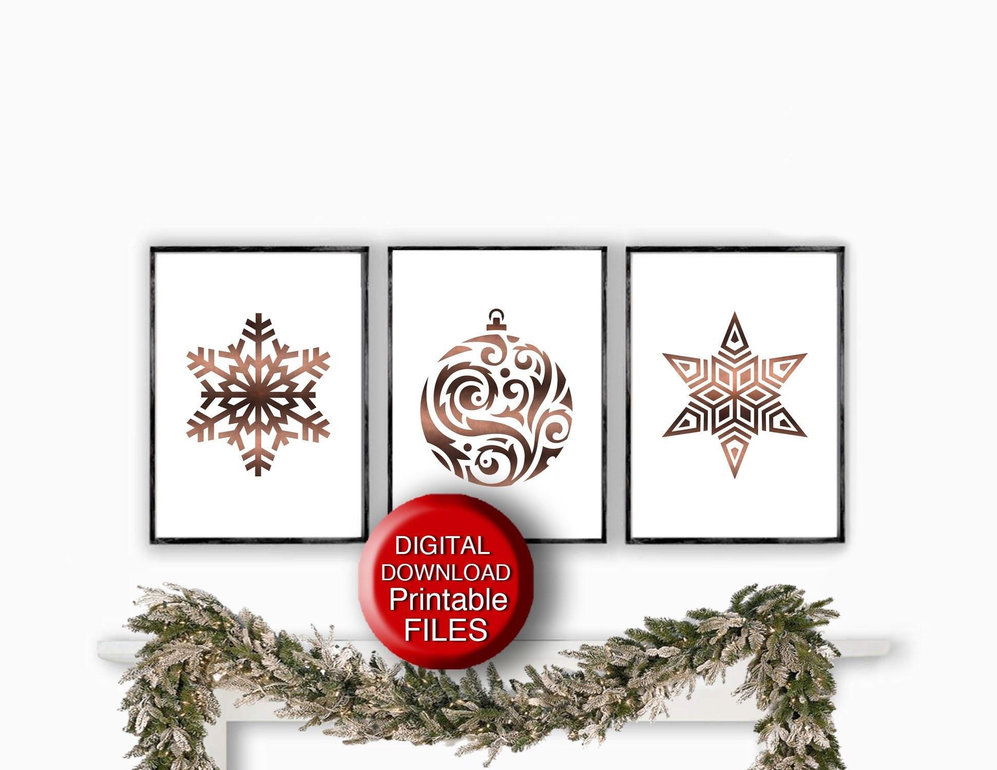 - Scandinavian Christmas Printable Art Holiday Decor Copper Etsy