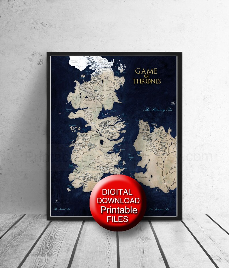 It's just a picture of Game of Thrones Printable Map in seven kingdoms
