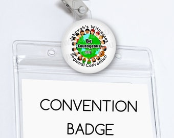 Be Courageous Convention Badge Holder JW Convention Name Card Holder Convention Card   JW Convention pins  Convention Gifts  Lapel Pin