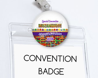 Mozambique Special Convention Badge Holder Maputo Special Convention Card Holder Convention pins Be Courageous Convention Name Card Holder