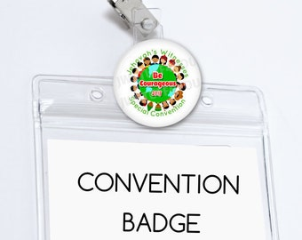 Be Courageous Special Convention Badge Holder JW Special Convention Name Card Holder Convention pins Be Courageous Convention Gifts Buttons