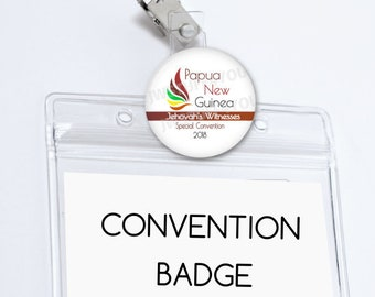 Papua New Guinea Convention Badge Holder Papua New Guinea Special Convention Name Card Holder Convention pins Be Courageous Convention Gifts