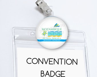 Mozambique Special Convention Badge Card Holder Maputo Special Convention Badge Holder Be Courageous Convention pins Convention Gifts