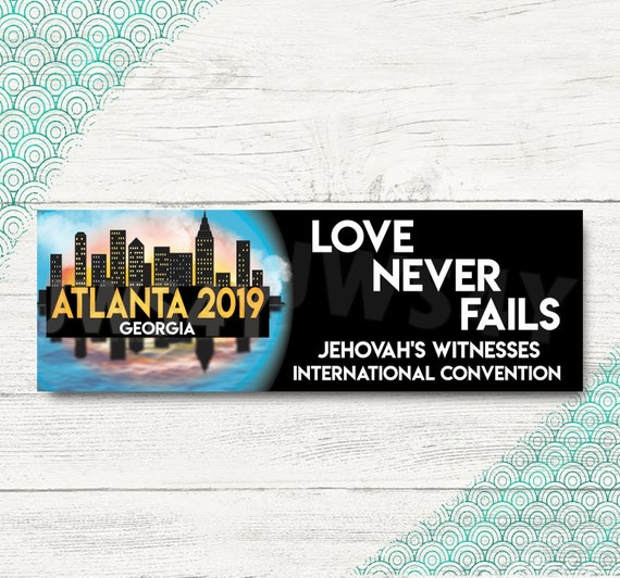 Love Never Fails Atlanta International Convention Bookmarks | JW Convention  2019 Bookmark | Atlanta Georgia Convention Gifts | JW org Gifts