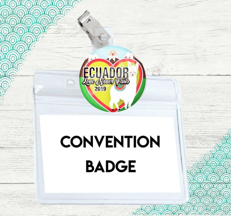 JW International Convention Gift Ecuador | Love Never Fails | JW Badge Card  Holder Pin | International Convention Gifts | Lapel Badge Holder