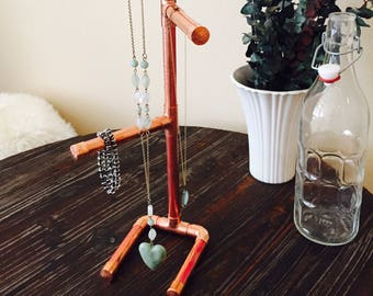 Copper Jewelry Holder, Display, Stand