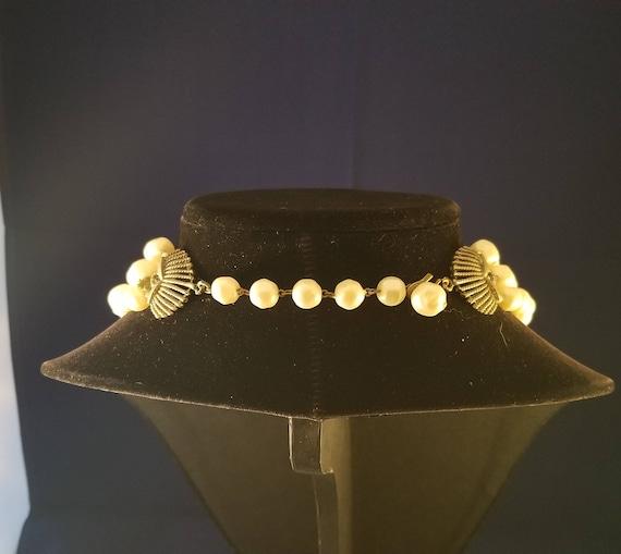 Faux pearl vintage necklace - image 7