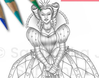 Alice Coloring Page Etsy