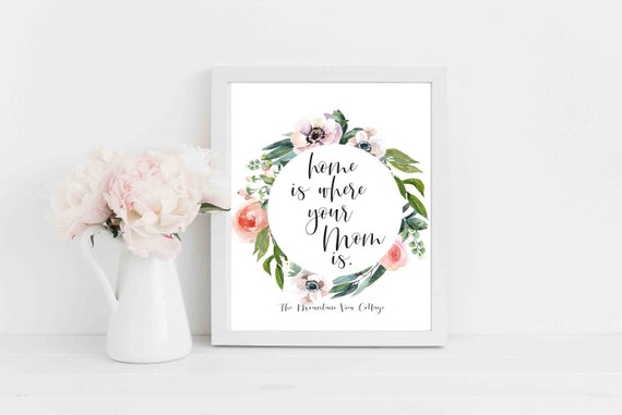 MOM QUOTESHome Is Where Your Mom IsShort Mom QuotesMom Etsy Custom Short Mom Quotes