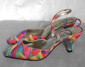 79d964b81 Dolce by Pierre Women s Pumps Heels Shoes 6M Multi Bright Colored c872