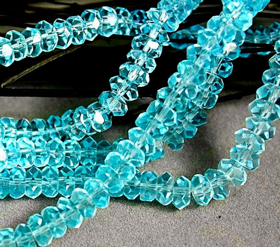 """rich blue Czech Fire Polished Round Faceted Glass Beads in Dark Aqua 16/"""" strand"""