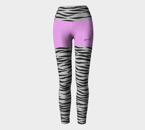 19f94ff88e ZEBRACORN: Workout Pants High Waist EcoPoly Zebra Stripe Pink | Etsy