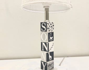 Nursery lamp etsy aloadofball Gallery