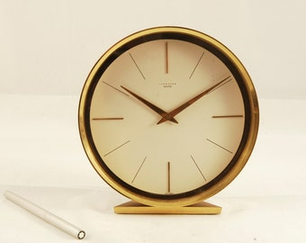 Junghans Meister Vintage table clock in the Art Deco style Made in Germany mechanical clockwork