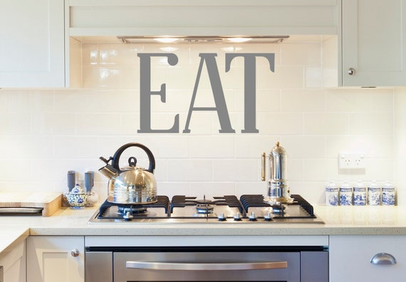Eat Letters Kitchen Wall Decal Eat Wall Decal Dining Room | Etsy