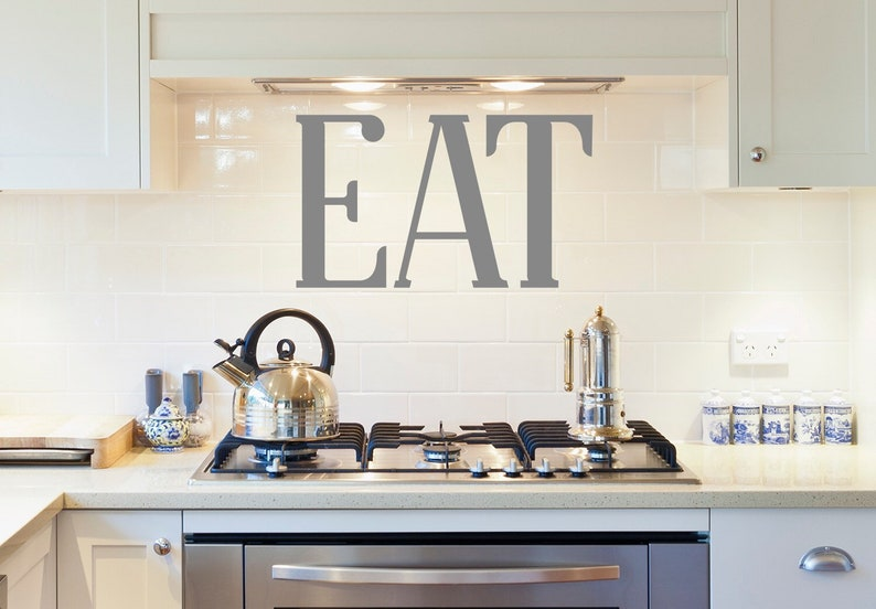 Eat Letters Dining Room Eat Wall Sign Rustic Home Decor Housewarming Gift Eat Wall Decal Modern Farmhouse Style Kitchen Wall Decal