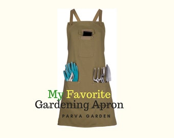 a7d21a84886 Gardening Apron with Pockets - Women s Garden Apron - Water Resistant Garden  Accessory Makes a Great Gift