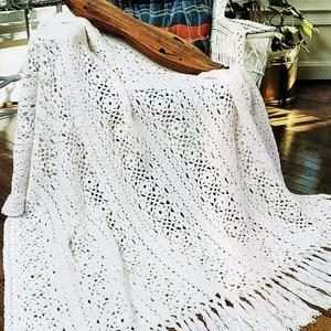 Wall Hanging or Bed Spread Digital Download Vintage Crochet Pattern Crochet Door Curtain PDF A707
