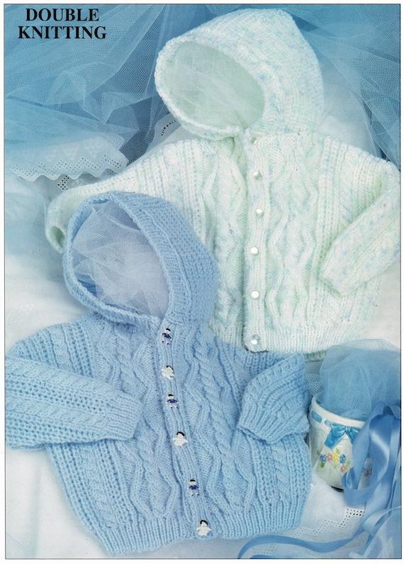 Easy Knitted Hooded Jacket Digital Download Vintage Knitting Pattern