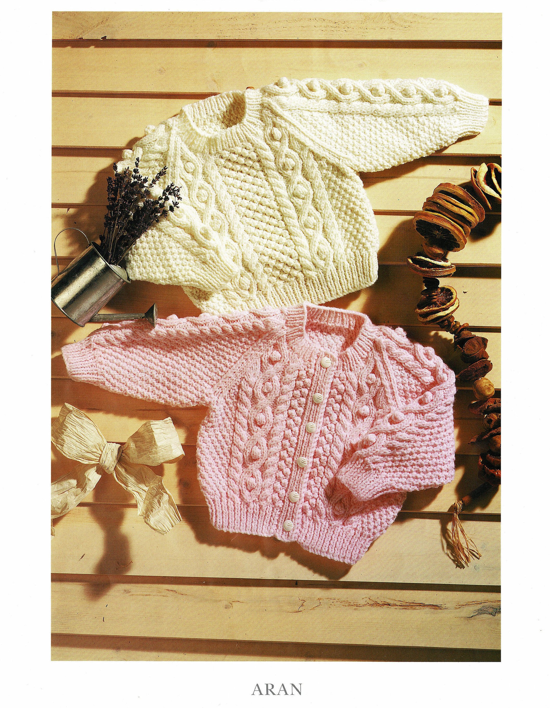 d4ceef5f1c31 Babies and Toddlers Raglan Sleeved Aran Cardigan and Sweater