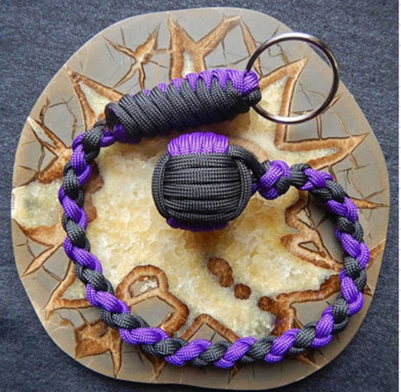 """Four 1-1//4/"""" Inch Large Paracord Monkey Fist Steel Bearing Balls Tactical Cores"""