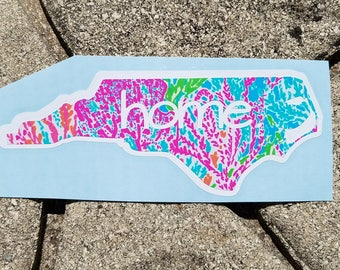 Lilly Inspired North Carolina Home Vinyl Decal