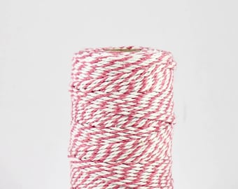 FULL SPOOL Pink and White Baker's Twine - 100m