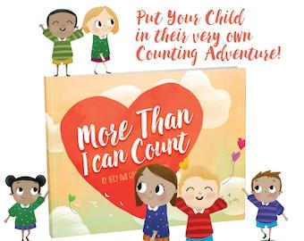 PDF book - downloadable book - unique personalized children's counting adventure - cute gift idea